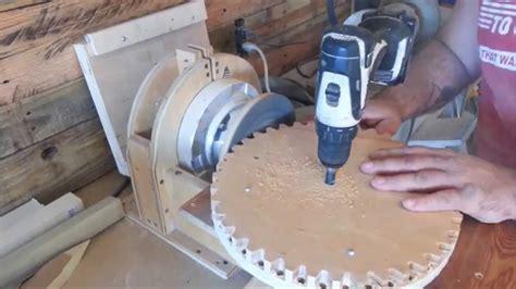 build  wood gears yard broom youtube