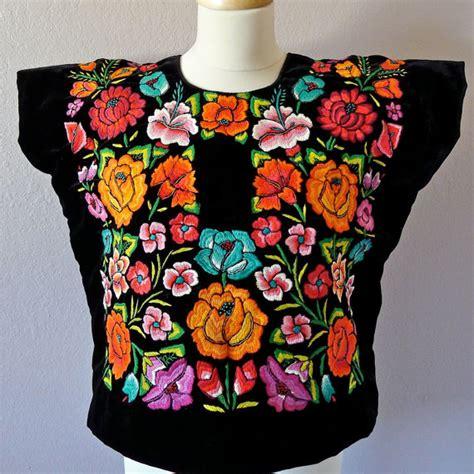 bordado para huipil mexicano huipil bordado blusa estilo frida de tehuana huipil