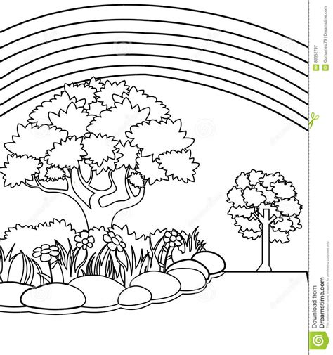 rainbow flower coloring page garden coloring page stock illustration image of juvenile