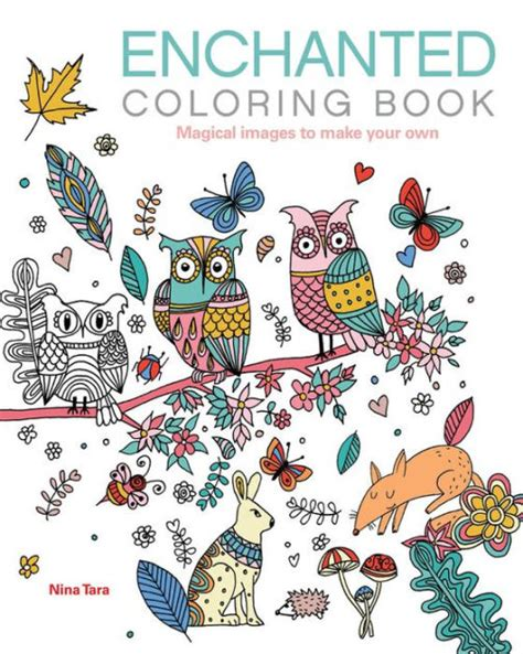 harry potter coloring books barnes and noble enchanted coloring book magical images to make your own