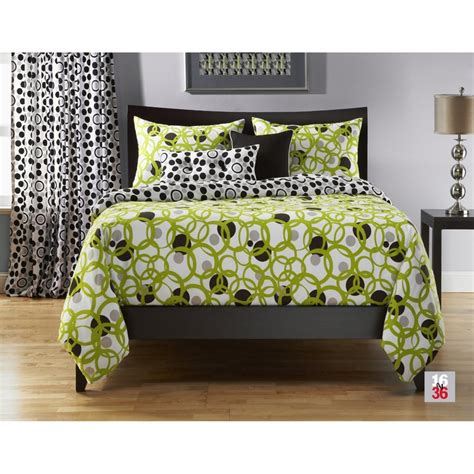 lime green and black comforter this lime green queen comforter set is exquisite in a