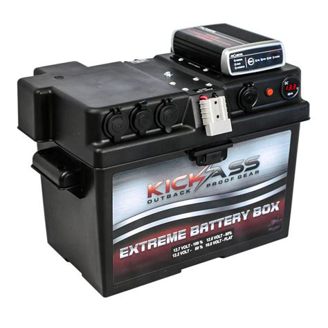battery box charger kickass 12v battery box with dc dc mppt solar charger