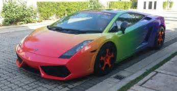 Or Lamborghini Rainbow Wrapped Lamborghini Gallardo Or Not