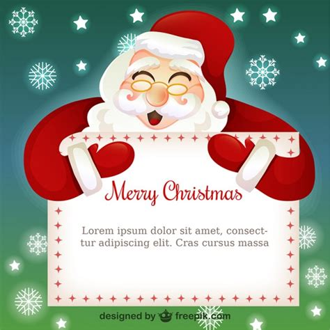 card template with santa claus vector