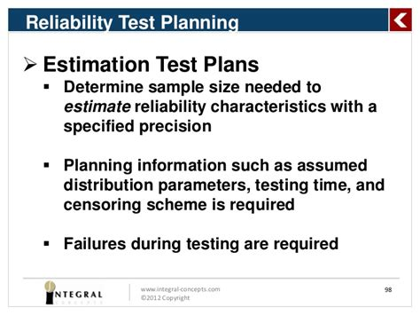 reliability test plan template predicting product using reliability analysis methods