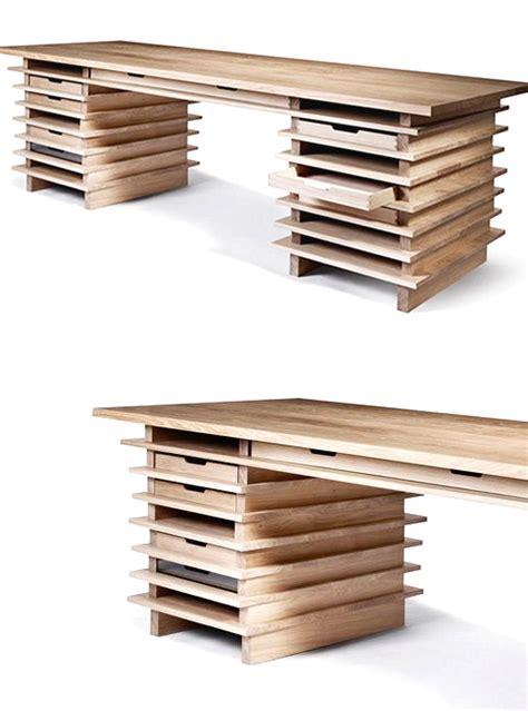 scrivanie legno design scrivania desk wood in legno listellare design originale