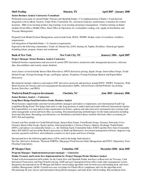 Derivative Trader Sle Resume by Philip Green Cv