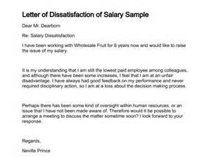 Complaint Letter Late Salary Payment Letter Of Dissatisfaction