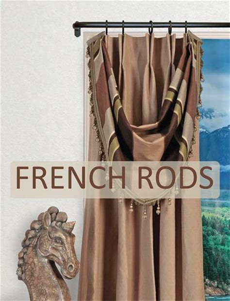 french curtain rods artistica french style curtain rod 1 1 4 quot diameter