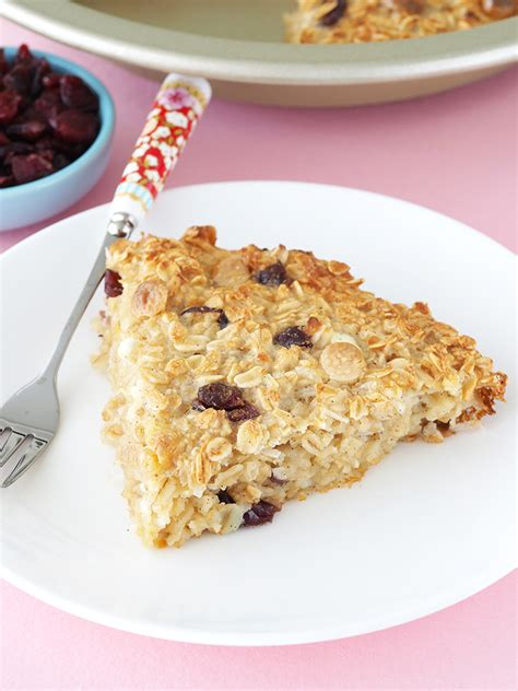 cranberry cottage cheese baked oatmeal the breakfast