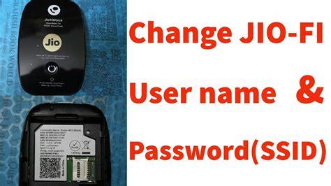 mobile ssid how to change reset jiofi wifi hotspot username password