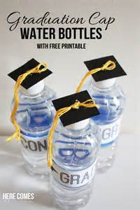How To Decorate Graduation Caps Graduation Cap Water Bottles Here Comes The Sun