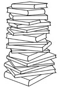stack of books coloring page stack of books pile of books clipart clipartix