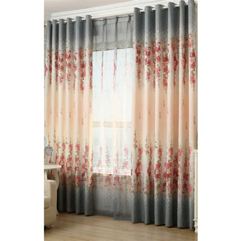 gray floral curtains gray floral print linen country bedroom or living room