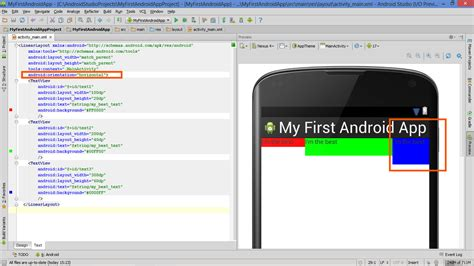 android studio get layout lesson how to build android app with linearlayout plus
