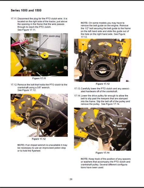 electric pto clutch repl cub cadet 917 04163 installation