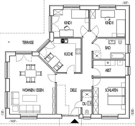 bl hton massivhaus best grundriss bungalow 140 qm gallery thehammondreport