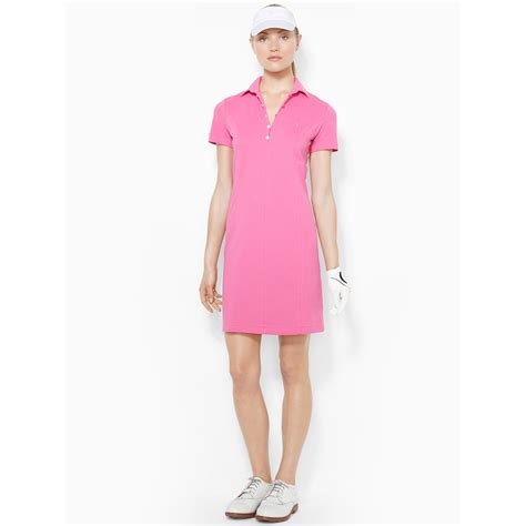 Dress Polos 2 ralph golf stretch cotton polo dress in pink lyst