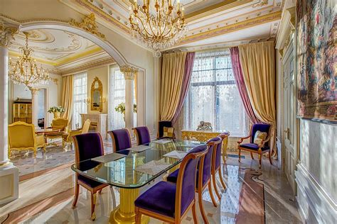victorian dining rooms gold and purple is the perfect color duo for the regal