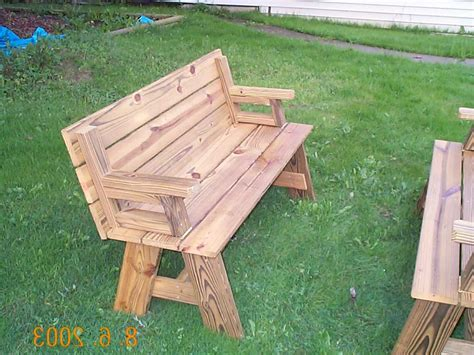 picnic table and bench combo folding bench and picnic table combo free plans