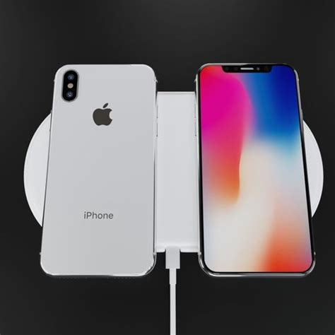 apple iphone x silver and space gray high poly model