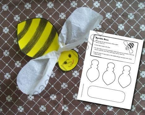 bumble bees craft  page easy printable craft
