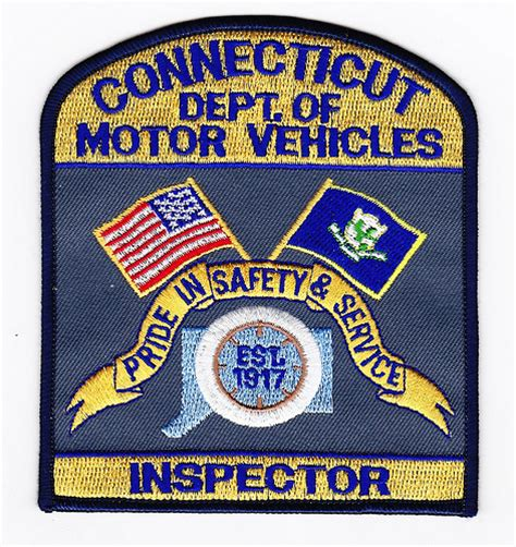 state department of motor vehicles ct state department of motor vehicles inspector patch
