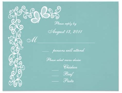 Wedding Card Options by Wedding Invitation With The Menu Option Everafterguide