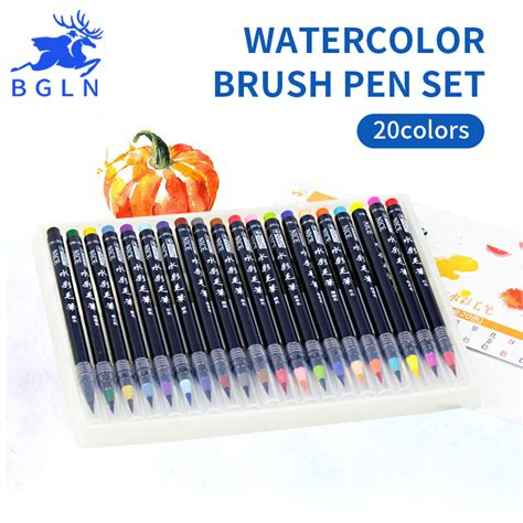 Water Color Pen Set m00231 morezmore set 20 watercolor brush pens color