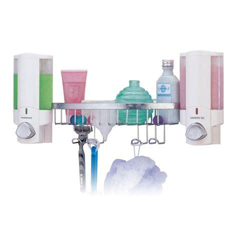 aviva bathroom dispensers better living products aviva dispenser shower basket in