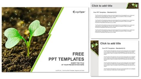 plant layout ppt free download young plant sprouting powerpoint templates