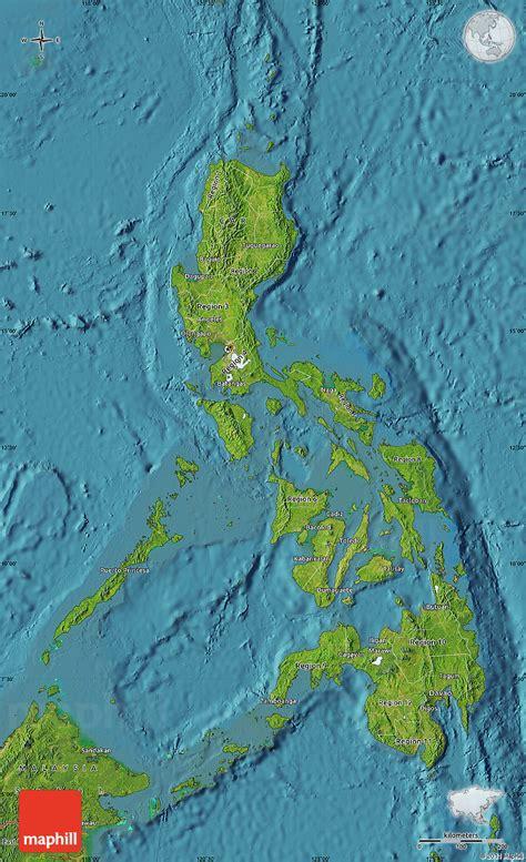map philippines satellite satellite map of philippines