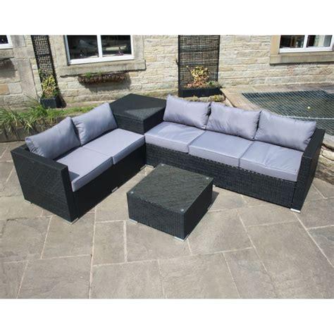 rattan corner sofa with storage rattan effect corner sofa set with table and storage