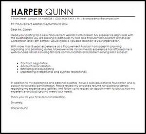 Procurement Assistant Cover Letter Sample   LiveCareer