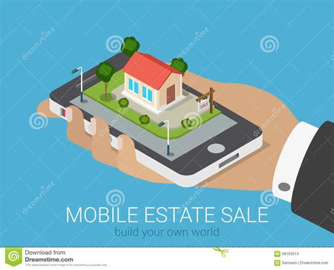 Building Plans Homes Free flat 3d isometric real estate infographic smartphone