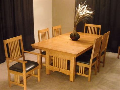arts  crafts extension dining table  chairs