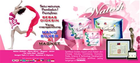 Natesh Sanitary Pantyliners With Magnetic Pembalut Herbal new natesh natesh sanitary pads pantyliners