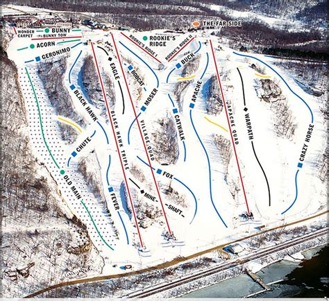 Knob Hill Trail Map by Where To Snowboard In Chicago Windward Boardshop