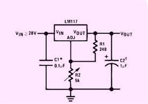 voltage regulator with variable resistor adjustable variable voltage regulator circuit using lm117 ic