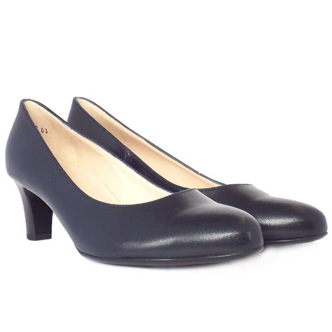navy shoe kaiser navy leather court shoes mozimo