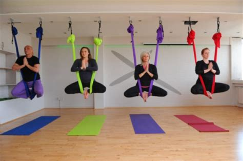 aerial combine traditional poses pilates and with the use of a hammock books aerial classes to get in shape fast health