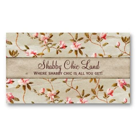Free Shabby Chic Business Card Templates by Vintage Paper And Chic On