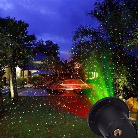 outdoor holiday laser light show remote static red and green sparkling star outdoor