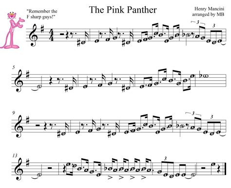theme music elementary pink panther theme song sheet music easy cakepins com