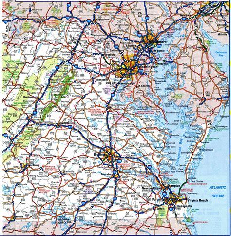 highway map of virginia virginia