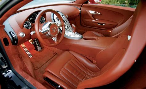 Interior Of A Bugatti Car And Driver