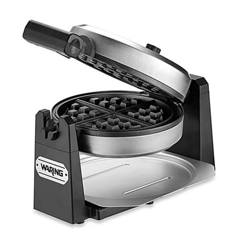 waffle maker bed bath and beyond waring 174 rotating style belgian waffle maker bed bath