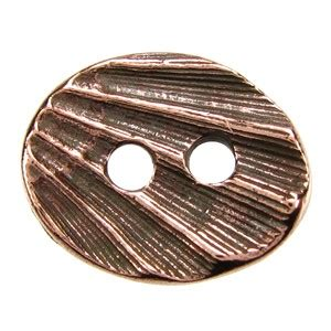 Ant Ovale oval shell button ant copper tone