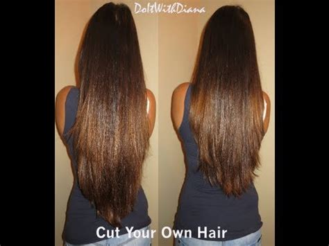 how to cut hair in layers yourself how to cut layers in your own hair tutorial lifeasdiana
