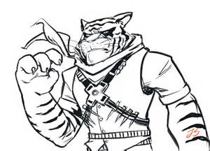 Tiger Claw Tmnt Coloring Pages Sketch Page sketch template
